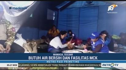 Pengungsi Gempa Mamasa Butuh Air Bersih dan Fasilitas MCK