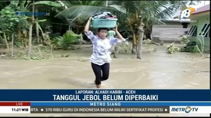 Banjir di Aceh Utara akibat Tanggul Jebol