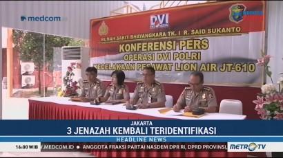 3 Jenazah Korban Lion Air Kembali Teridentifikasi