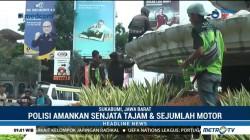 13 Anggota Geng Motor di Sukabumi Dihukum Bersihkan Tugu Adipura