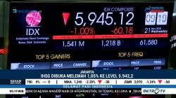 IHSG Perdagangan Pagi Dibuka Melemah 1,05 Persen