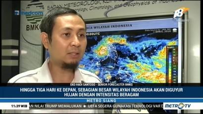 BMKG: Sebagian Besar Wilayah di Indonesia Berpotensi Diguyur Hujan