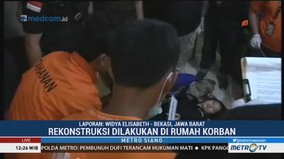 Polisi Gelar Rekonstruksi Pembunuhan Satu Keluarga di Bekasi