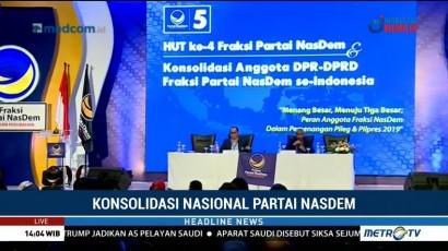 NasDem Sasar 100 Kursi DPR di Pileg 2019
