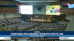 Rapat Paripurna DPR Diwarnai Interupsi Protes Pelonggaran DNI