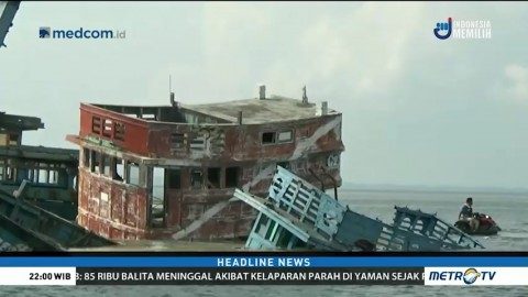 Lima Kapal Asing Asal Vietnam Ditenggelamkan
