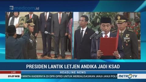 Jokowi Lantik Andika Perkasa Jadi KSAD