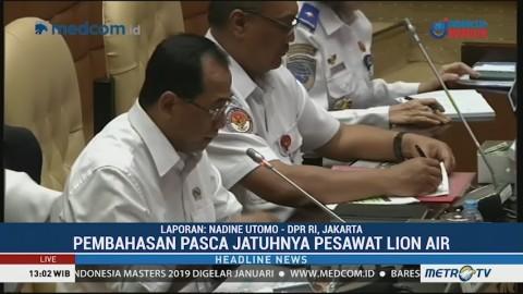 DPR Gelar RDP dengan Menhub, Basarnas dan KNKT Bahas Kecelakaan Lion Air