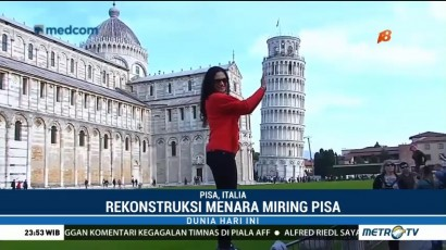 Menara Pisa di Italia Kini Semakin Kokoh