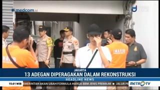 Polisi Gelar Rekonstruksi Kasus Mayat dalam Lemari