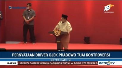 Pernyataan Prabowo soal Tukang Ojek Tuai Kontroversi
