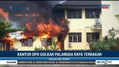 Kantor DPD Golkar Palangka Raya Terbakar