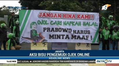 Pengemudi Ojek Online di Jakarta Tuntut Permintaan Maaf dari Prabowo