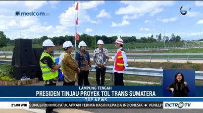 Presiden Jokowi Tinjau Proyek Tol Trans Sumatera