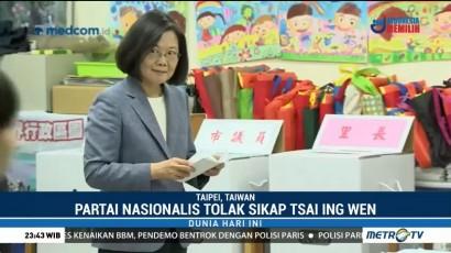 Masyarakat Taiwan Gelar Pemilu Lokal
