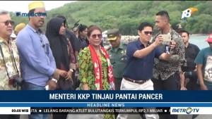 Menteri Susi Tinjau Pantai Pancer di Jawa Timur