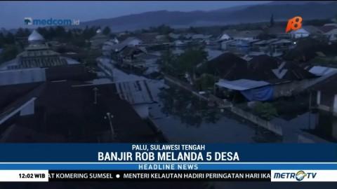 Lima Desa di Donggala Terendam Banjir Rob