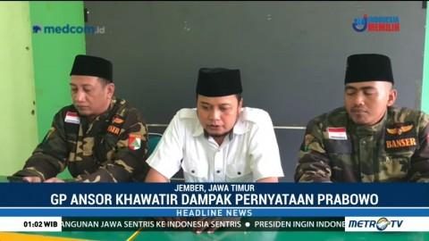 GP Ansor Jember Kecam Pernyataan Prabowo soal Pemindahan Kedutaan Australia