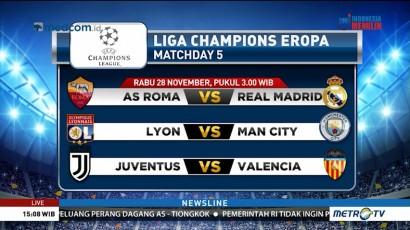 <i>Preview</i> AS Roma vs Madrid: Berebut Pemuncak Grup B