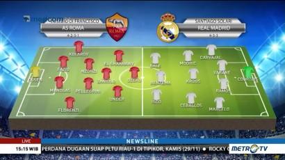 Perkiraan Formasi AS Roma vs Real Madrid