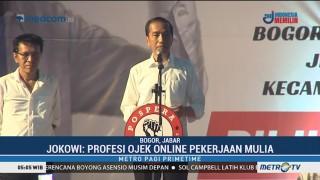 Jokowi: Profesi Ojek Online Pekerjaan Mulia