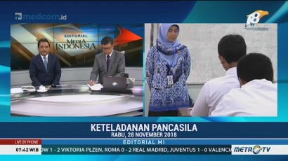 Bedah Editorial MI: Keteladanan Pancasila