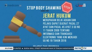 Awas, <i>Body Shaming</i> Bisa Berujung Pidana