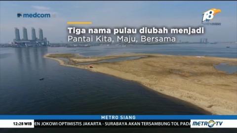 Anies Ganti Nama Tiga Pulau Reklamasi