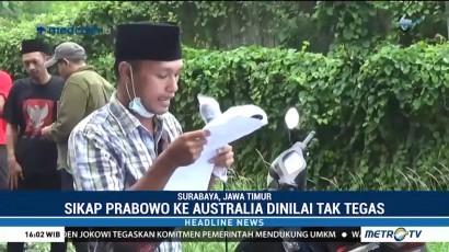 Puluhan Mahasiswa Surabaya Tentang Sikap Prabowo