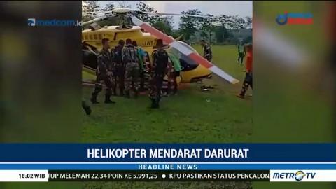 Helikopter Mendarat Darurat di Jeneponto