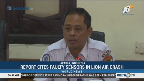 Report Cites Faulty Sensors in Lion Air Crash