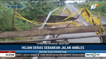 Jalan Ambles di Dairi Sumut Belum Diperbaiki
