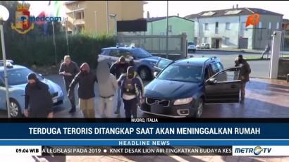 Seorang Pria Terduga Teroris Asal Lebanon Ditangkap di Italia