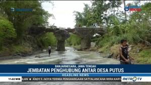 Diterjang Banjir, Jembatan Antar Desa di Banjarnegara Putus