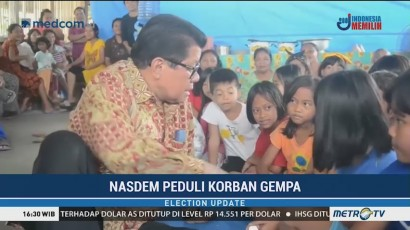 NasDem Salurkan Bantuan untuk Pengungsi Gempa Mamasa