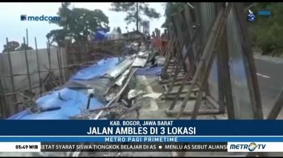 Jalur Utama Puncak Ambles, Bus dan Truk Dilarang Melintas