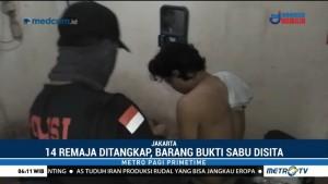 14 Pemuda di Tambora Digerebek Polisi saat Pesta Sabu