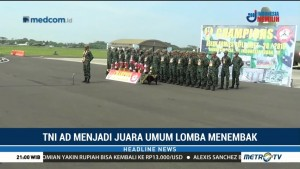 TNI AD Juara Umum Lomba Menembak di Malaysia
