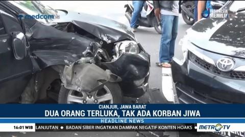 Kecelakaan Mobil di Cianjur, Dua Orang Terluka