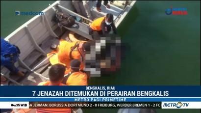 Kecelakaan Kapal, 7 Mayat Ditemukan Mengapung di Perairan Bengkalis