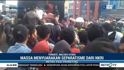 Polisi Bubarkan Paksa Aksi Unjuk Rasa di Ternate