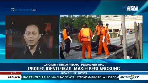 Tim SAR Evakuasi Tujuh Jenazah yang Mengapung di Perairan Bengkalis