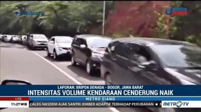 Volume Kendaraan di Puncak Bogor Meningkat