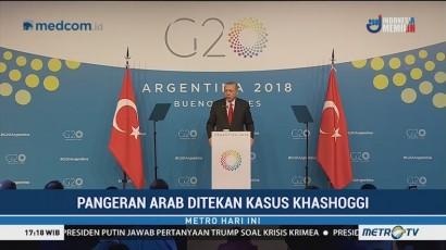 Pangeran Arab Ditekan soal Kasus Khashoggi di KTT G20
