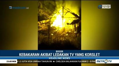 Korsleting Listrik, Rumah di Bogor Ludes Terbakar