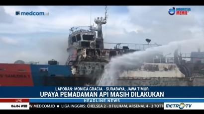 Upaya Pemadaman Api KM Gerbang Samudra I Terus Dilakukan