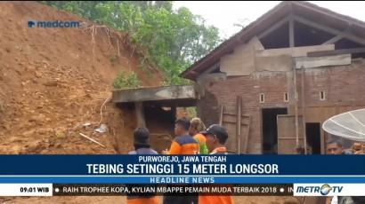 Dua Rumah Warga di Purworejo Tertimpa Material Longsor
