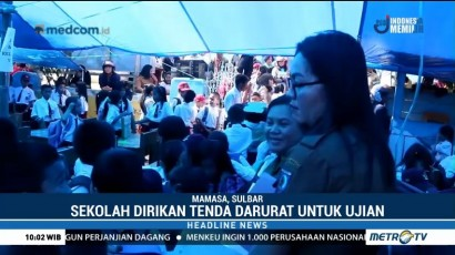 Sekolah Rusak Karena Gempa, Siswa di Mamasa Ujian di Tenda