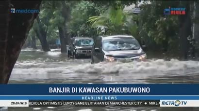 Banjir Rendam Perumahan di Kebayoran Baru