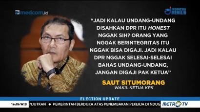 KPK Gulirkan Wacana Tak Gaji Anggota DPR Jika UU Tak Rampung